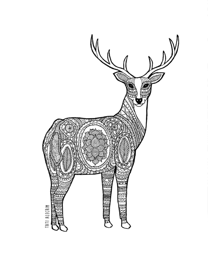 Animal-pattern---the-deer