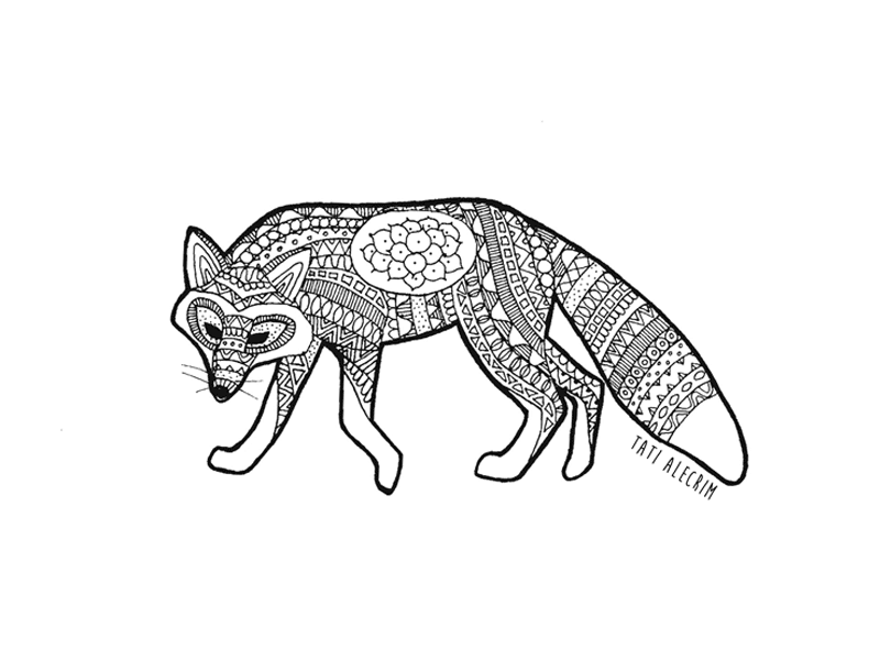 Animal-pattern---the-fox