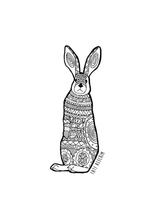 Animal-pattern---the-rabbit