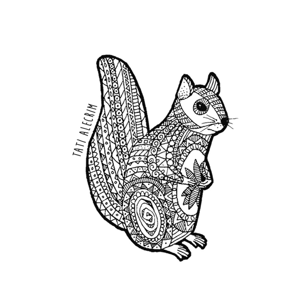 Animal-pattern---the-squirrel